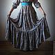 Платья ручной работы. Длинное платье Лазурь. Лиза (lisetti). Ярмарка Мастеров. Платье для кормления