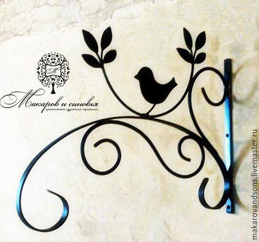 Подставки под цветы ручной работы. Ярмарка Мастеров - ручная работа. Купить Настенный держатель кронштейн для кашпо Птичка. Handmade.