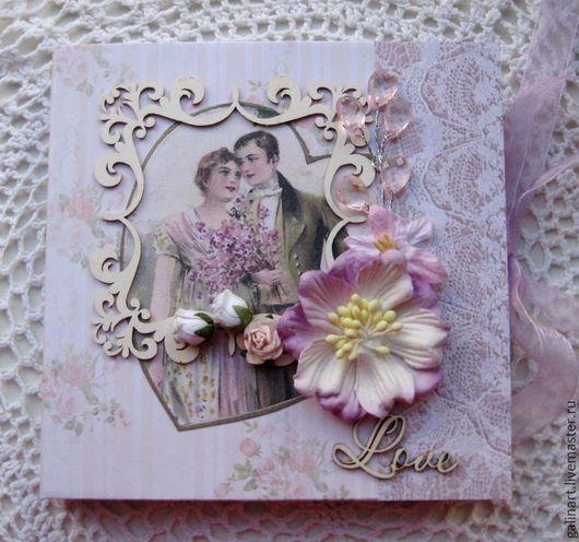 """Подарочные наборы ручной работы. Ярмарка Мастеров - ручная работа. Купить Конверт для DVD диска """"LOVE"""". Handmade. Бледно-розовый"""