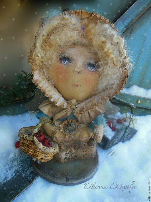 Коллекционные куклы ручной работы. Ярмарка Мастеров - ручная работа. Купить Рождественские яблоки. Handmade. Бежевый, ароматизированная кукла, синтепон