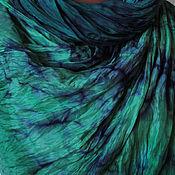 Аксессуары ручной работы. Ярмарка Мастеров - ручная работа Шёлковый  палантин   Глубокий  изумруд. Handmade.