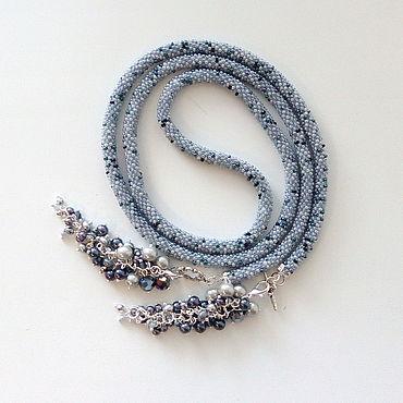 Decorations handmade. Livemaster - original item Lariat with pendant of beads