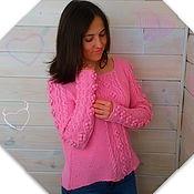 Одежда ручной работы. Ярмарка Мастеров - ручная работа Летний джемпер Яблоневый цвет. Handmade.