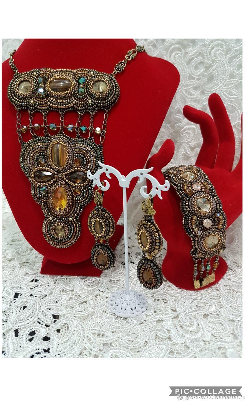 Jewelry set beaded ' Oriental tales', Jewelry Sets, Moscow,  Фото №1