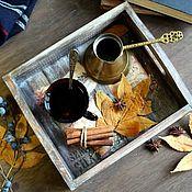 """Для дома и интерьера ручной работы. Ярмарка Мастеров - ручная работа Поднос """"Спешить домой"""". Handmade."""