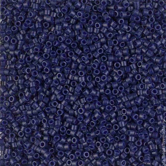 Для украшений ручной работы. Ярмарка Мастеров - ручная работа. Купить Бисер delica 2144 Opaque Dyed Cobalt. Handmade.