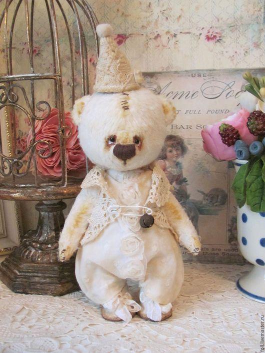 Мишки Тедди ручной работы. Ярмарка Мастеров - ручная работа. Купить Мишка Франц. Handmade. Мишка, винтаж, опилки, мятный