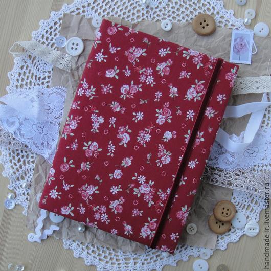 Блокноты ручной работы. Ярмарка Мастеров - ручная работа. Купить Блокнот. Handmade. Бордовый, винтажный стиль, хлопок, бархатная лента