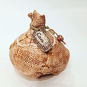 Для дома и интерьера ручной работы. Ярмарка Мастеров - ручная работа Мешочек сахара соли керамическая сахарница или солонка ручной работы. Handmade.