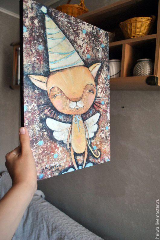 Животные ручной работы. Ярмарка Мастеров - ручная работа. Купить котоФей (репродукция). Handmade. Оранжевый, кот