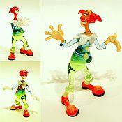 Для дома и интерьера ручной работы. Ярмарка Мастеров - ручная работа Интерьерная скульптура из стекла -  три клоуна Бим, Бам и Бом. Handmade.