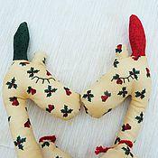 Куклы и игрушки ручной работы. Ярмарка Мастеров - ручная работа Жирафчик сплюшка Новогодний. Handmade.