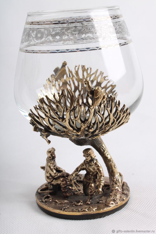 Glass for cognac ' Winter fishing', Wine Glasses, Vacha,  Фото №1