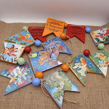 Гирлянды: Новогодняя гирлянда Старые открытки