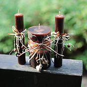 """Свадебный салон ручной работы. Ярмарка Мастеров - ручная работа Свадебные свечи """"Горький шоколад"""". Handmade."""