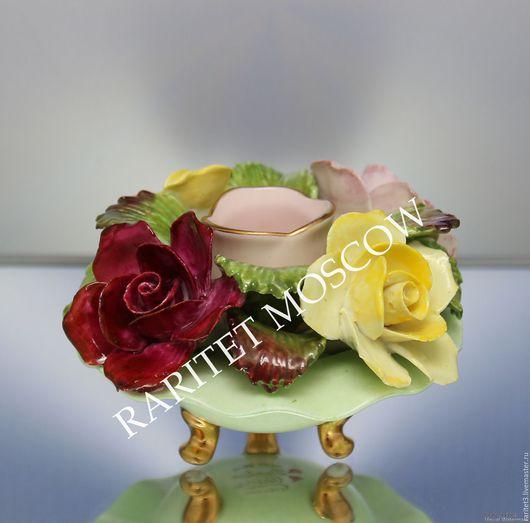 Винтажные предметы интерьера. Ярмарка Мастеров - ручная работа. Купить Ваза с цветами подсвечник роза фарфор Англия 7. Handmade.