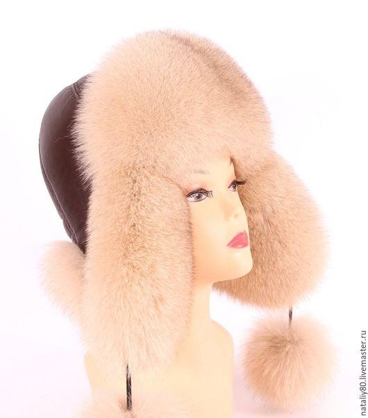 Шапки ручной работы. Ярмарка Мастеров - ручная работа. Купить Женская меховая шапка Финский песец SAGA Royal. Handmade.