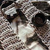 """Одежда ручной работы. Ярмарка Мастеров - ручная работа Жилет из трикотажной пряжи """"Жемчужный"""". Handmade."""