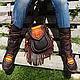 Обувь ручной работы. Ярмарка Мастеров - ручная работа. Купить Эксклюзивный кожаный комплект (мокасины и сумка) «Hmong». Handmade. Обувь