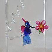 Для дома и интерьера ручной работы. Ярмарка Мастеров - ручная работа Птичка (колибри) из богемского стекла. Handmade.