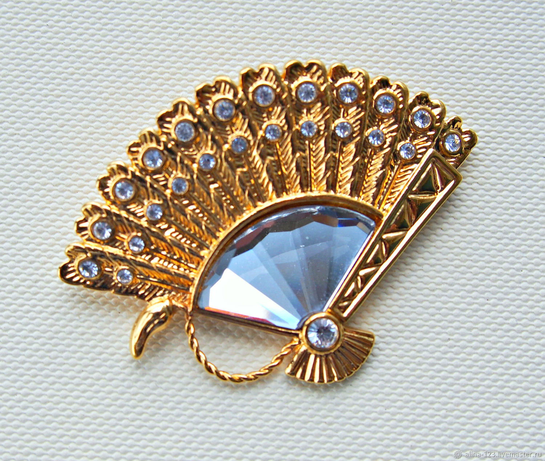 d48c4052b Vintage Jewelry. Livemaster - handmade. Buy Charming brooch FAN from  Swarovski.