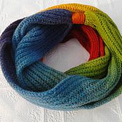 Аксессуары handmade. Livemaster - original item Snood rainbow. Handmade.