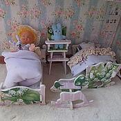 """Мини фигурки и статуэтки ручной работы. Ярмарка Мастеров - ручная работа Мебель для кукол, декупаж, с бельем , """"Ландышей букет"""". Handmade."""
