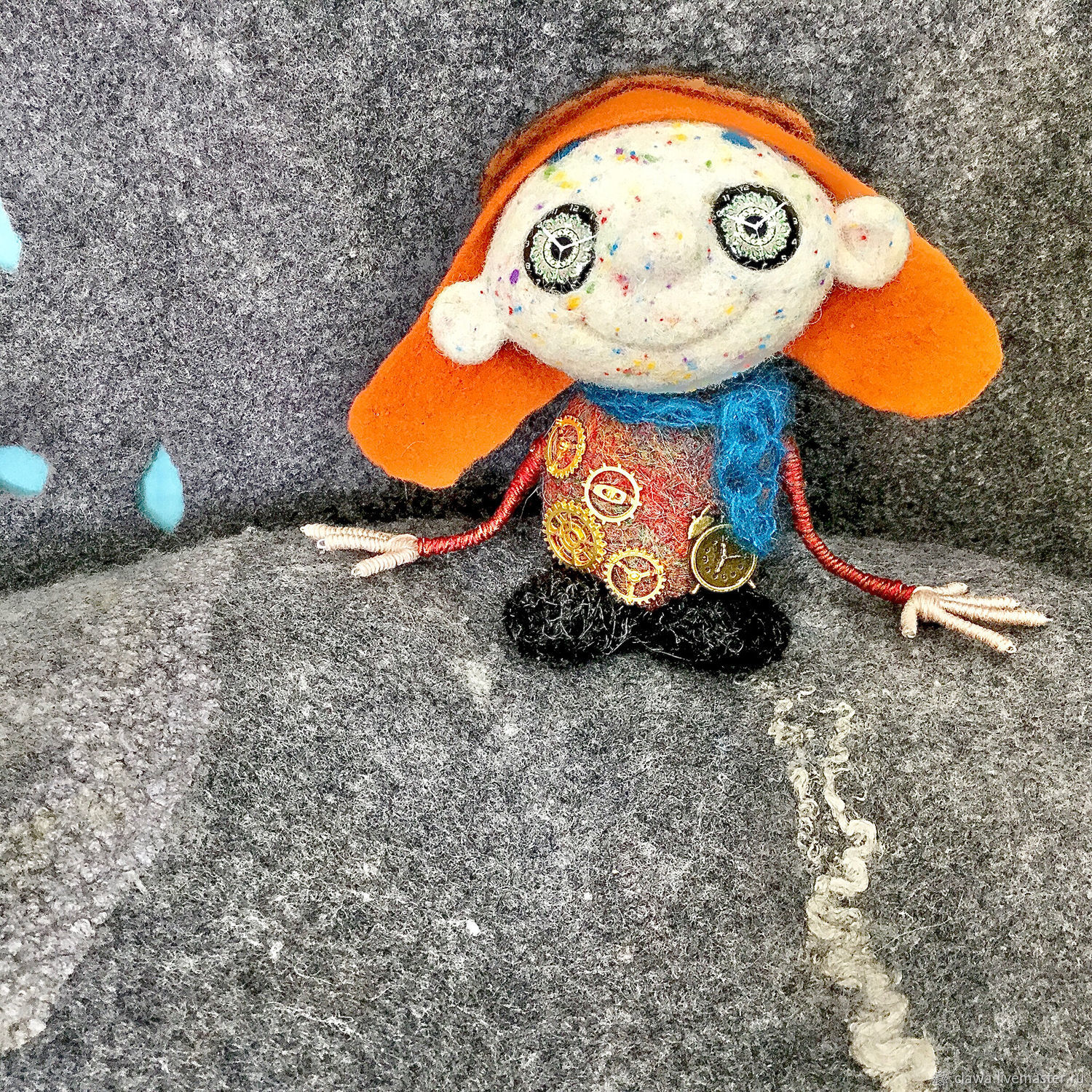 felt toy: The Time Traveler, Felted Toy, Plovdiv,  Фото №1