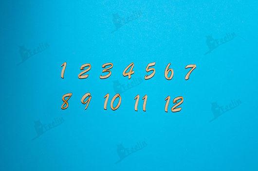 Декупаж и роспись ручной работы. Ярмарка Мастеров - ручная работа. Купить Цифры для часов высота 2см арт. d0090005. Handmade.