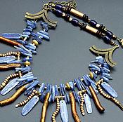 Украшения handmade. Livemaster - original item Double row necklace of kyanite
