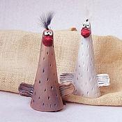 Сувениры и подарки ручной работы. Ярмарка Мастеров - ручная работа Два веселых гуся, колокольчики. Handmade.