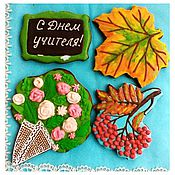 Сувениры и подарки handmade. Livemaster - original item Gingerbread On Teacher`s Day. Handmade.