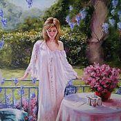 Картины и панно handmade. Livemaster - original item Oil painting with a girl Summer heat. Handmade.