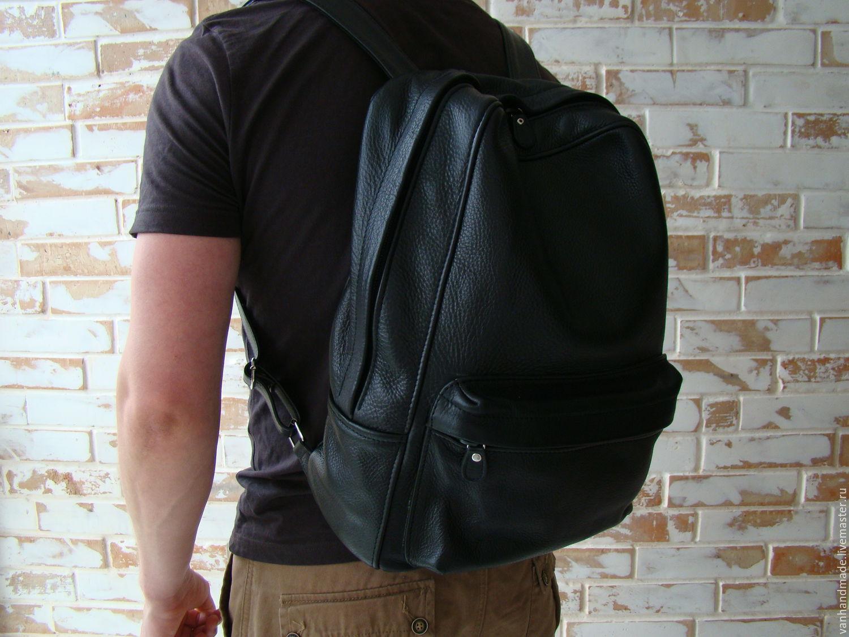 954f15c2b230 Стильный черный кожаный рюкзак. Индивидуальный пошив. Алена и Владимир (