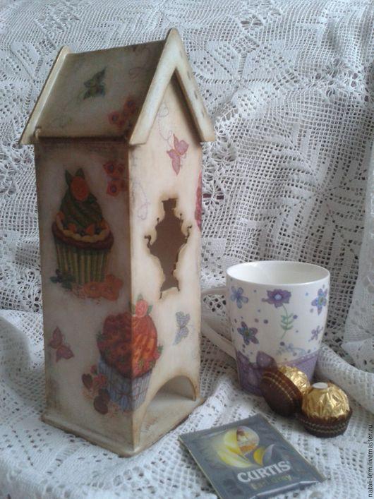 """Кухня ручной работы. Ярмарка Мастеров - ручная работа. Купить Чайный домик """"Самовар"""". Handmade. Белый, чайный домик"""