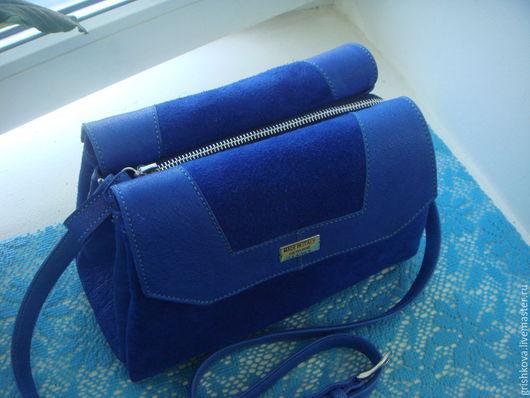 """Женские сумки ручной работы. Ярмарка Мастеров - ручная работа. Купить """"Синенькая  сумочка """". Handmade. Тёмно-синий, текстиль"""