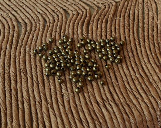 Для украшений ручной работы. Ярмарка Мастеров - ручная работа. Купить Бусины мелкие шарики 2мм 500шт ант.бронза. Handmade.