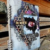"""Канцелярские товары ручной работы. Ярмарка Мастеров - ручная работа Ежедневник """"Open your eyes"""". Handmade."""