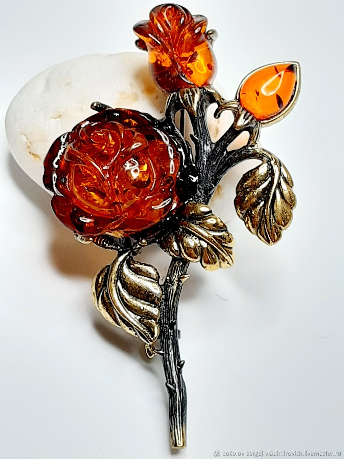 Brooch Rose Bouquet, Brooches, Moscow,  Фото №1