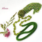 Necklace handmade. Livemaster - original item Chartreuse - necklace-suspension. Handmade.