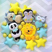 Работы для детей, handmade. Livemaster - original item Mobile in a felt bed - Mint morning. Handmade.