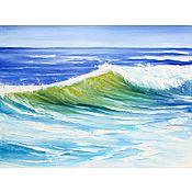 Картины и панно handmade. Livemaster - original item Painting sea oil Transparent wave seascape. Handmade.
