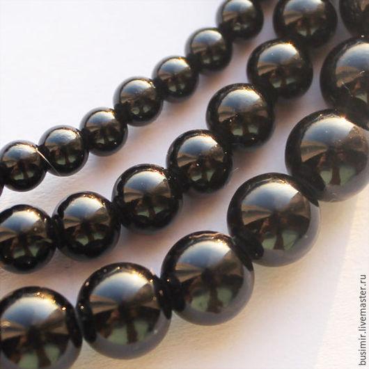 Для украшений ручной работы. Ярмарка Мастеров - ручная работа. Купить Агат Черный 4,6,8 мм. Handmade.