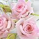 """Заколки ручной работы. Заказать Розы на шпильках """"Fiore rosa giardino"""". Флористическая глина.. 'Poli-Flower'   (Надежда). Ярмарка Мастеров."""