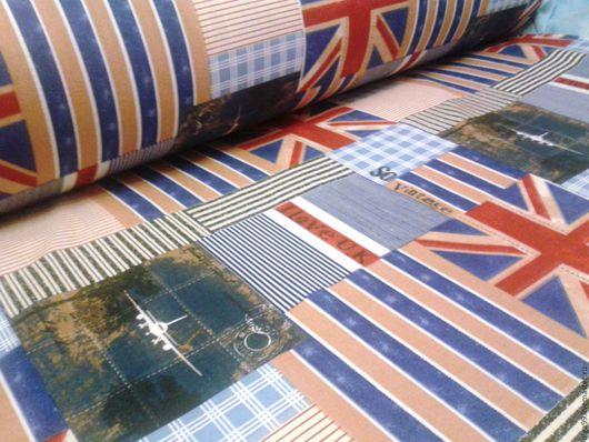 """Шитье ручной работы. Ярмарка Мастеров - ручная работа. Купить ткань """"Лондон блю"""". Handmade. Комбинированный, ткань, хлопок"""