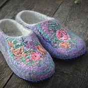 """Обувь ручной работы. Ярмарка Мастеров - ручная работа Тапочки """"Ласковое утро"""". Handmade."""