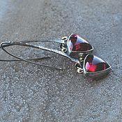 Украшения handmade. Livemaster - original item Earrings with tourmalines, silver and brass. Handmade.