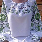 Одежда ручной работы. Ярмарка Мастеров - ручная работа Женская вышиванка с кружевом. Handmade.