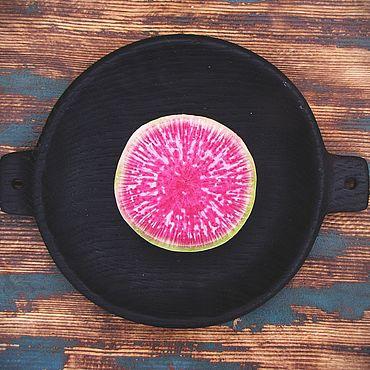 Посуда. Ярмарка Мастеров - ручная работа Маленький поднос для подачи d-18 см.. Handmade.