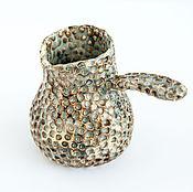 Посуда ручной работы. Ярмарка Мастеров - ручная работа Небольшая турка Исландия Вулкан. Handmade.